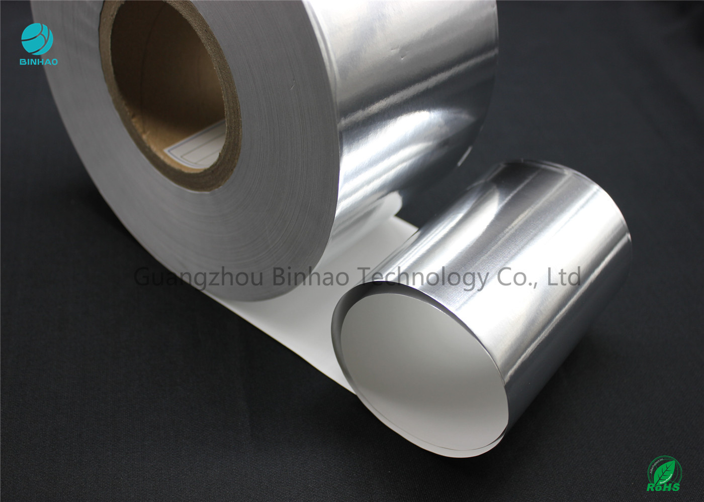 Silver Moisture - Proof Aluminium Foil Paper With White Backing Base Paper For Premium Cigarette Packaging