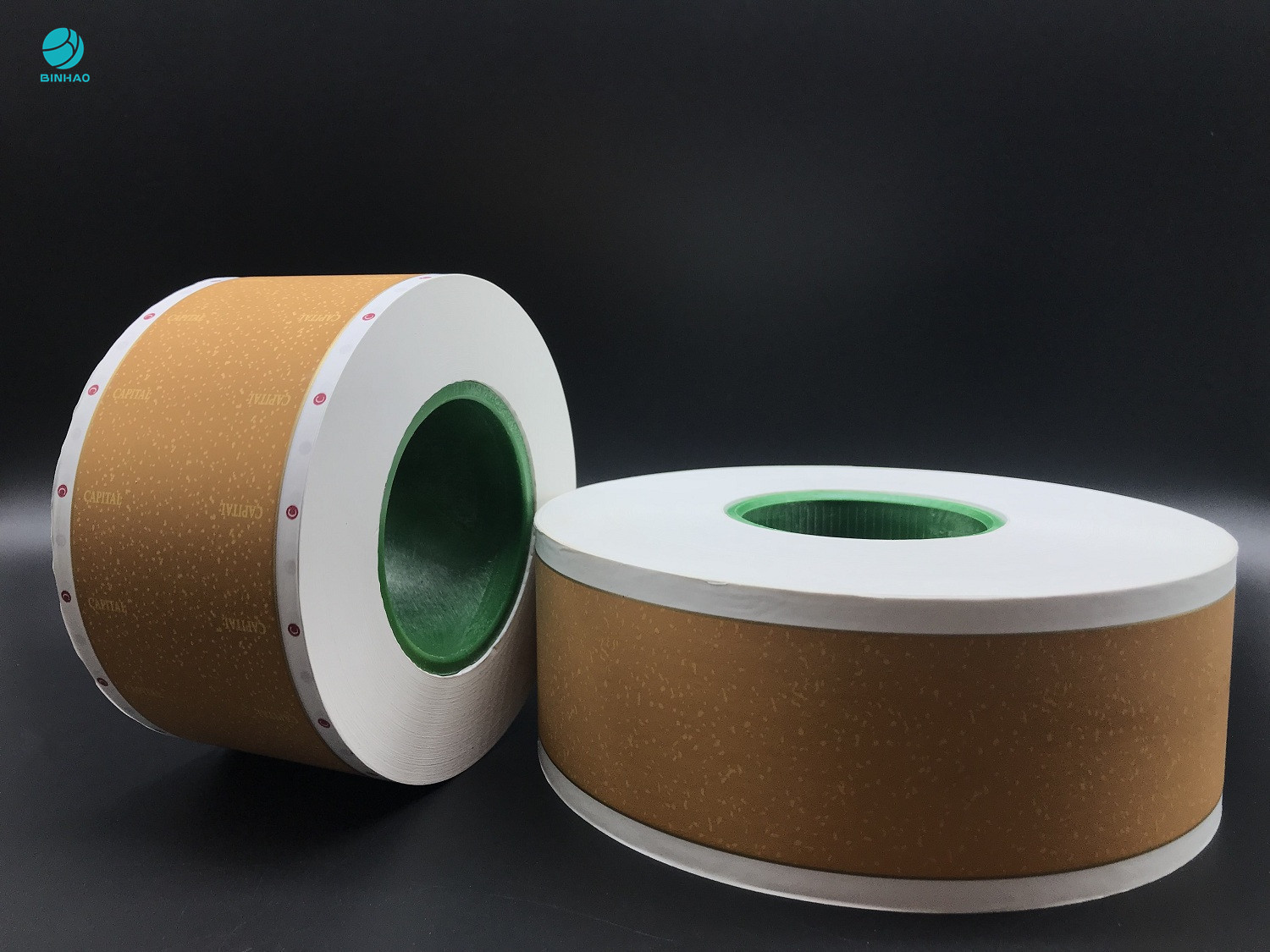 58mm Tobacco Filter Paper , Custom Logo Printed Cork Natural Permeability Tipping Paper